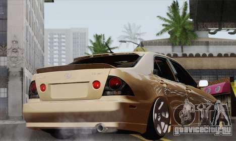 Lexus IS300 Hellaflush для GTA San Andreas вид слева