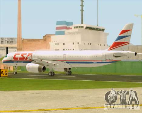 Airbus A321-200 CSA Czech Airlines для GTA San Andreas вид сверху