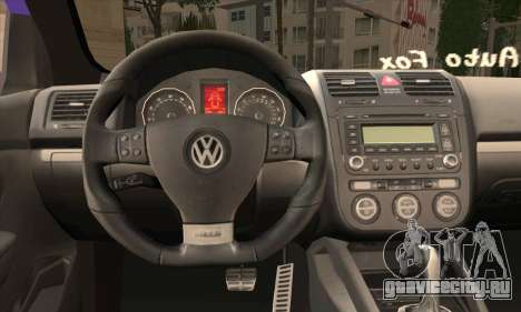 Volkswagen Golf Mk5 GTi Turkish Tuned для GTA San Andreas вид сзади слева