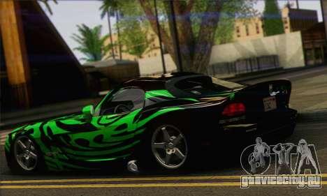 Dodge Viper SRT 10 для GTA San Andreas вид слева
