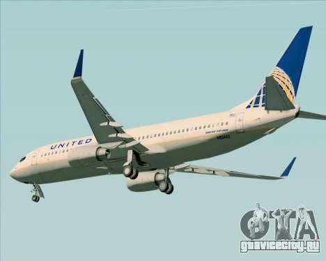 Boeing 737-824 United Airlines для GTA San Andreas вид сзади