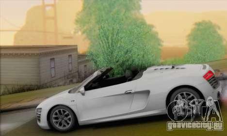 Audi R8 V10 Spyder 2014 для GTA San Andreas вид слева