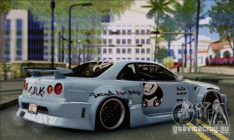 Nissan Skyline R-34 SDK Style для GTA San Andreas вид слева