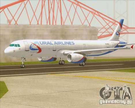 Airbus A321-200 Ural Airlines для GTA San Andreas вид изнутри