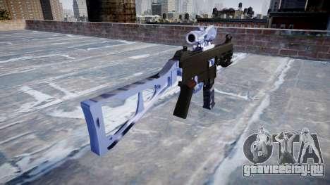 Пистолет-пулемёт UMP45 Blue Tiger для GTA 4 второй скриншот