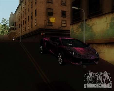 Lamborghini Aventador для GTA San Andreas вид сбоку