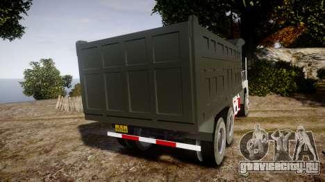 HOWO Truck для GTA 4 вид сзади слева