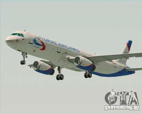 Airbus A321-200 Ural Airlines для GTA San Andreas вид слева