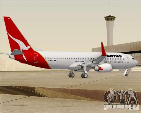 Boeing 737-838 Qantas (Old Colors) для GTA San Andreas вид справа