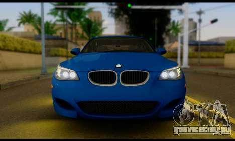 BMW M5 E60 2006 для GTA San Andreas вид справа