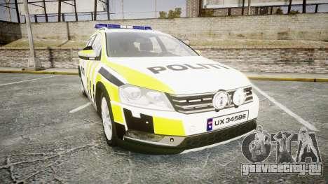 Volkswagen Passat 2014 Marked Norwegian Police для GTA 4