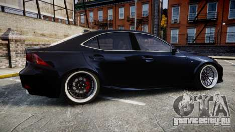 Lexus IS 350 F-Sport для GTA 4 вид слева