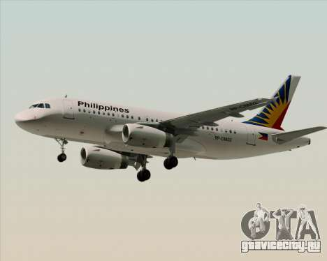 Airbus A319-112 Philippine Airlines для GTA San Andreas вид сверху