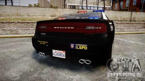 GTA V Bravado Buffalo LS Police [ELS] для GTA 4 вид сзади слева