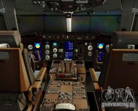 Boeing 767-330ER Condor для GTA San Andreas салон