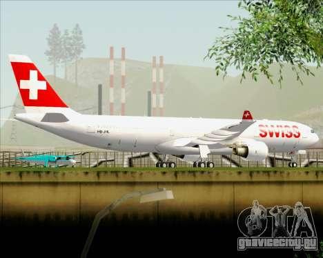 Airbus A330-300X Swiss International Air Lines для GTA San Andreas вид снизу