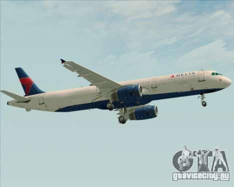 Airbus A321-200 Delta Air Lines для GTA San Andreas вид сзади