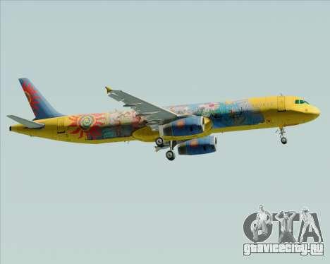 Airbus A321-200 для GTA San Andreas вид сзади слева