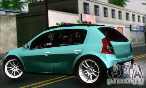 Dacia Sandero XIC для GTA San Andreas вид слева