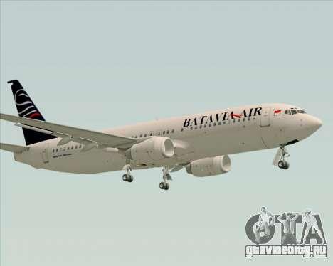 Boeing 737-800 Batavia Air для GTA San Andreas вид снизу