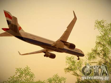 Boeing 757-236 British Airways для GTA San Andreas вид изнутри