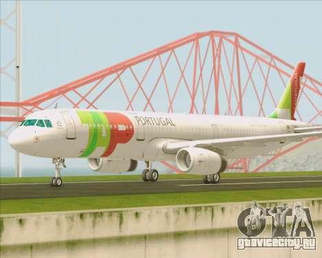 Airbus A321-200 TAP Portugal для GTA San Andreas вид изнутри