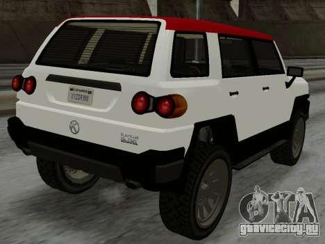 Karin BJ XL для GTA San Andreas вид слева