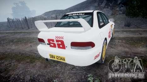 Subaru Impreza WRC 1998 SA Competio v3.0 для GTA 4 вид сзади слева