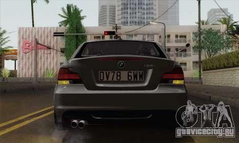 BMW 135i 2009 для GTA San Andreas вид сзади