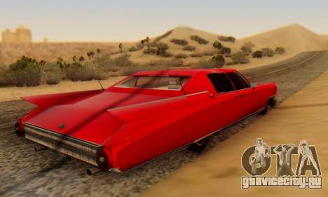 Cadillac Stella II для GTA San Andreas вид сзади слева