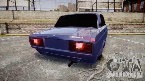 ВАЗ-2105 хулиганский стиль для GTA 4 вид сзади слева