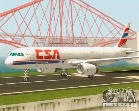 Airbus A321-200 CSA Czech Airlines для GTA San Andreas вид изнутри
