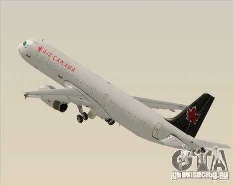 Airbus A321-200 Air Canada для GTA San Andreas колёса