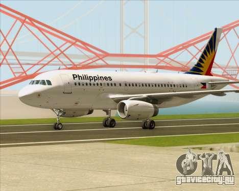 Airbus A319-112 Philippine Airlines для GTA San Andreas вид слева