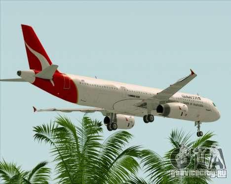 Airbus A321-200 Qantas для GTA San Andreas вид снизу