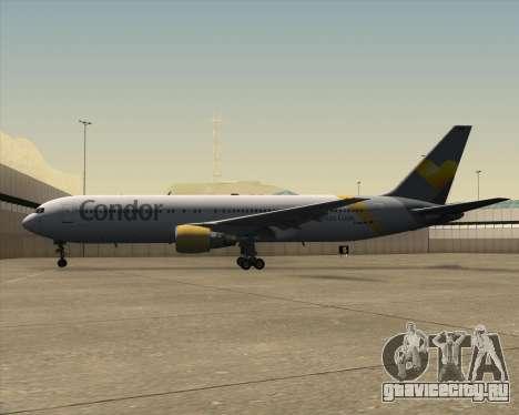 Boeing 767-330ER Condor для GTA San Andreas вид снизу