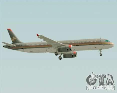 Airbus A321-200 Royal Jordanian Airlines для GTA San Andreas вид сверху