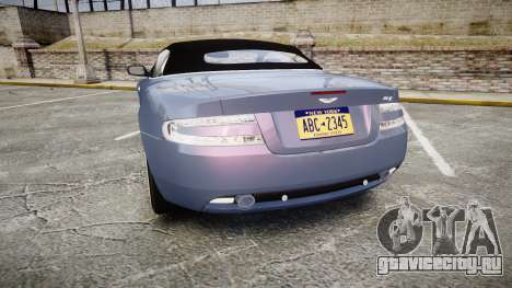 Aston Martin DB9 Volante 2005 VK Edition для GTA 4 вид сзади слева