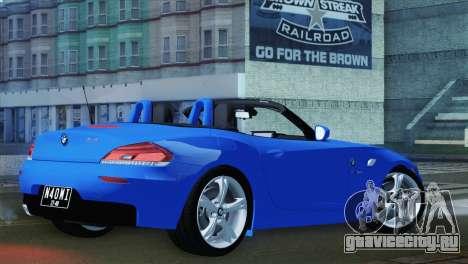 BMW Z4 sDrive28i 2012 Stock для GTA San Andreas вид слева