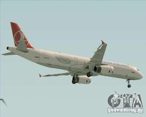 Airbus A321-200 Turkish Airlines для GTA San Andreas вид сзади