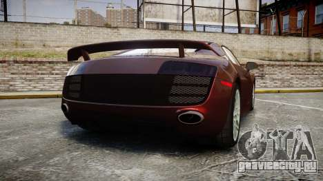 Audi R8 2010 Rotiform BLQ для GTA 4 вид сзади слева