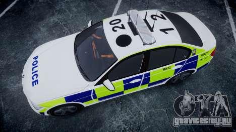 BMW 335i 2013 Central Motorway Police [ELS] для GTA 4 вид справа