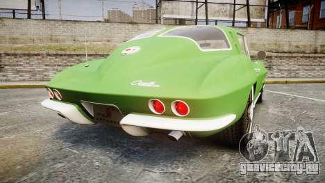 Chevrolet Corvette Stingray 1963 для GTA 4 вид сзади слева