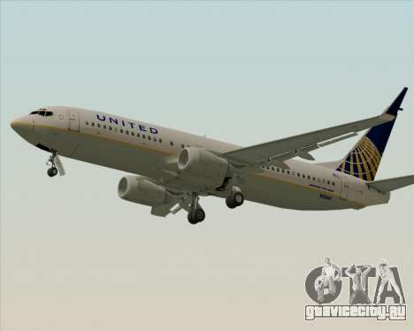 Boeing 737-824 United Airlines для GTA San Andreas вид сзади слева