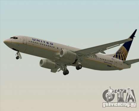 Boeing 737-824 United Airlines для GTA San Andreas вид сзади слева