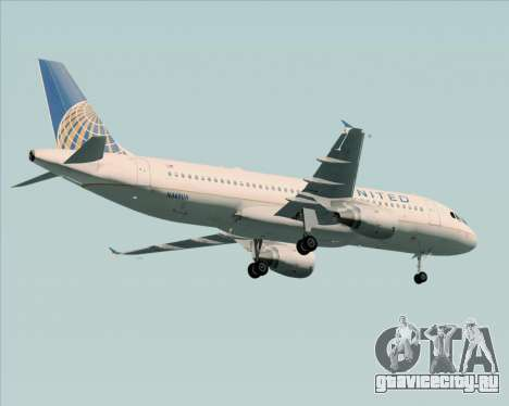 Airbus A320-232 United Airlines для GTA San Andreas вид снизу