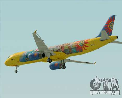 Airbus A321-200 для GTA San Andreas вид изнутри