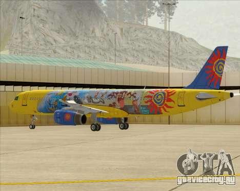Airbus A321-200 для GTA San Andreas вид снизу