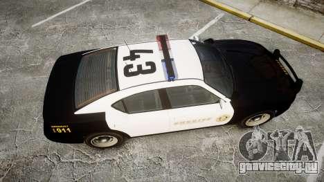 GTA V Bravado Buffalo LS Sheriff Black [ELS] для GTA 4 вид справа