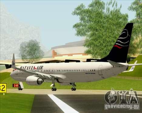 Boeing 737-800 Batavia Air для GTA San Andreas вид сзади